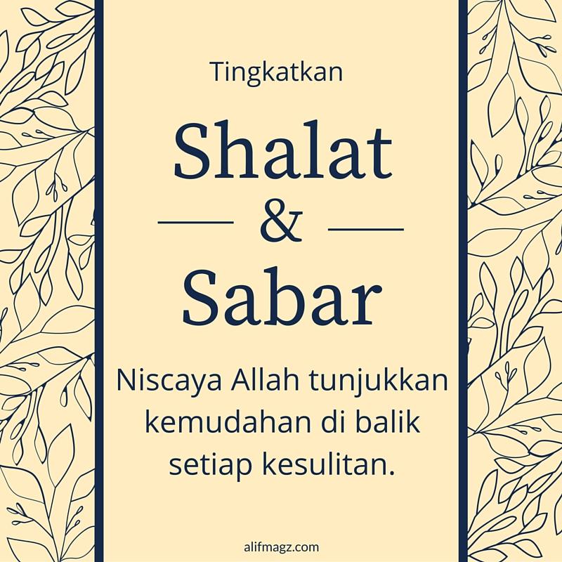 Shalat dan Sabar 120416