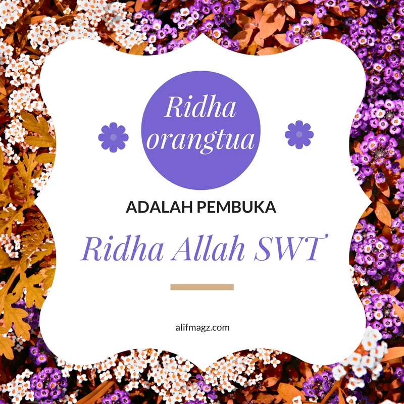 Ridha Orangtua 120816
